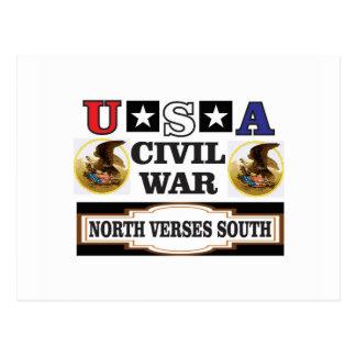 Versos del norte de la guerra civil de los postal