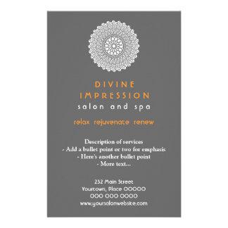 Vertical anaranjada divina de la impresión tarjeta publicitaria