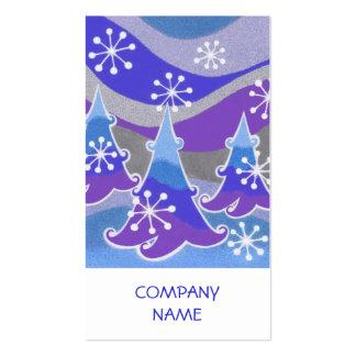 Vertical azul de la tarjeta de visita de los