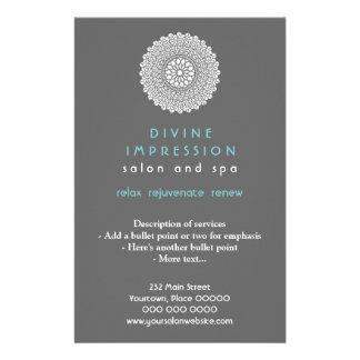 Vertical ciánica divina de la impresión folleto 14 x 21,6 cm