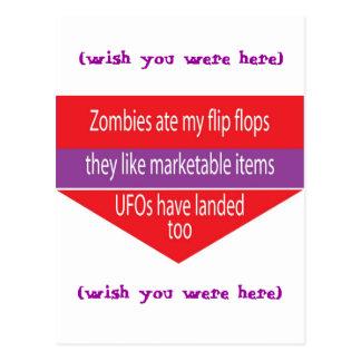 Vertical de la postal con diseño chistoso del text