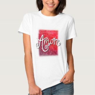 Vertical de la ropa de Amore Camiseta