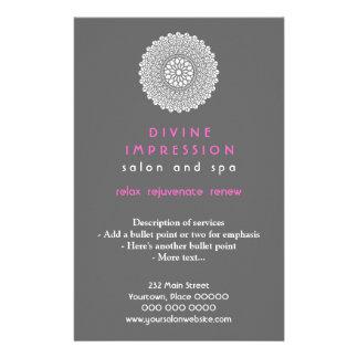Vertical rosada divina de la impresión flyer a todo color
