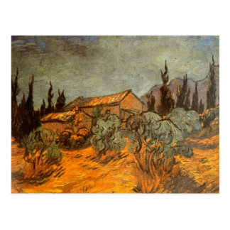 Vertientes de madera de Vincent van Gogh Postal