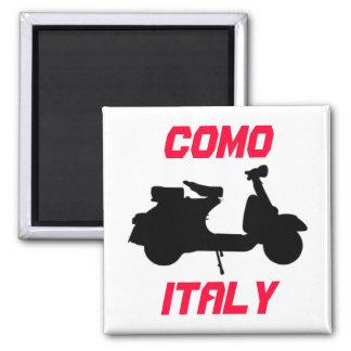 Vespa, Como, Italia Imán Cuadrado