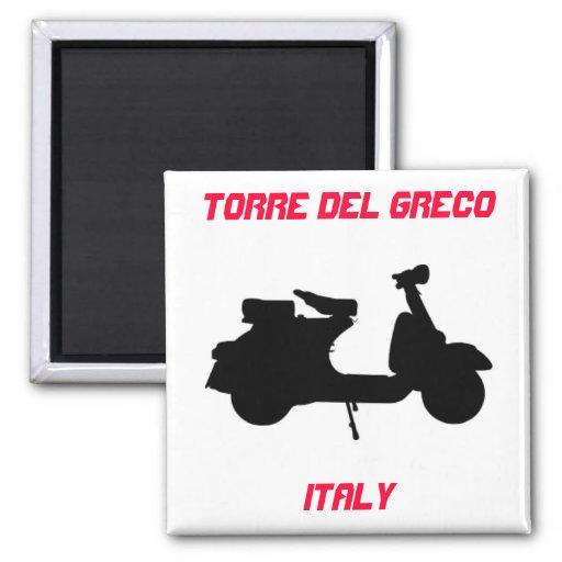 Vespa, Torre del Greco, Italia Imán Para Frigorífico
