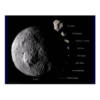 Vesta y galería asteroide postal