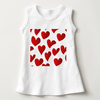 Vestido Amor rojo pintado modelo del corazón del ejemplo