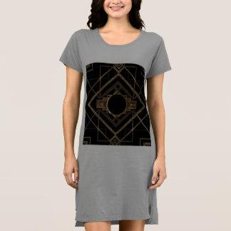 Vestido Art déco, nouveau, vintage, negro, oro, moda,