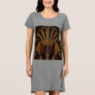 Vestido arte Nouveau, art déco, vintage, colores de madera