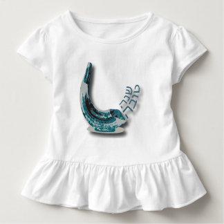 Vestido azul del niño del volante de Shofer Shana Camisetas