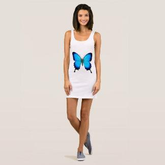 Vestido azul del tanque de la mariposa de Ulises