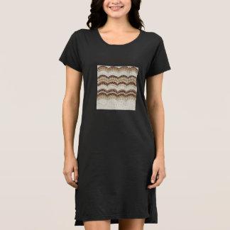 Vestido beige de la camiseta de Mosaic Mujer