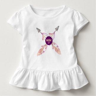 Vestido bohemio del volante del bebé de las