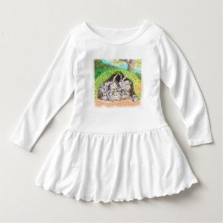Vestido Brote de Annabelle; Conejitos del patio trasero