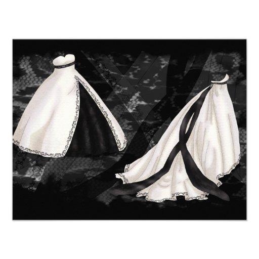 Vestido de boda blanco y negro comunicado