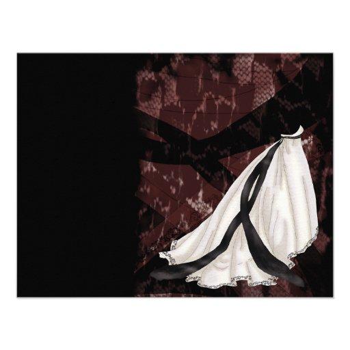 Vestido de boda blanco y negro anuncios personalizados