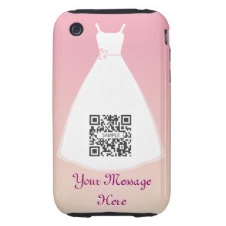 vestido de boda de la plantilla del caso del iPhone 3 tough cobertura