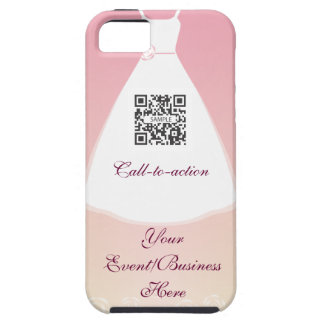 vestido de boda de la plantilla del caso del iPhone 5 protector