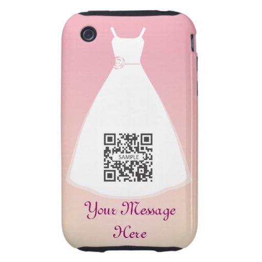 vestido de boda de la plantilla del caso del iPhon Tough iPhone 3 Carcasa