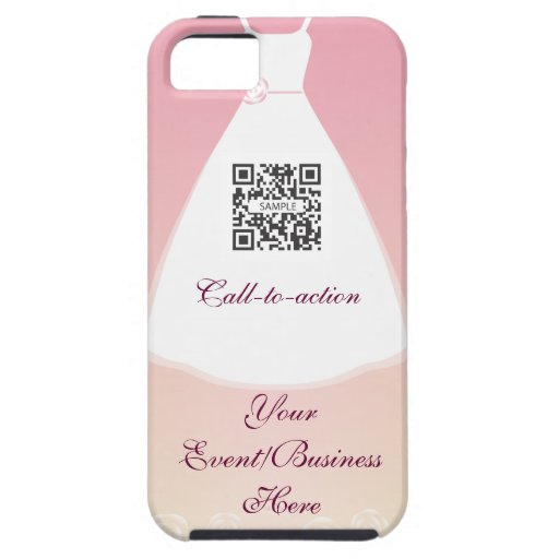 vestido de boda de la plantilla del caso del iPhon iPhone 5 Carcasas