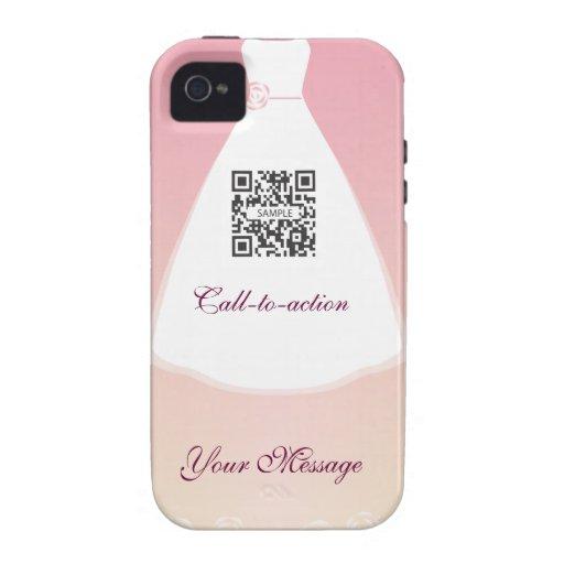 vestido de boda de la plantilla del caso del iPhon iPhone 4/4S Carcasas
