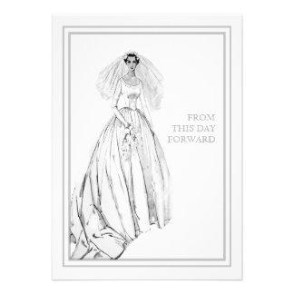 Vestido de boda del vintage a partir de este día a