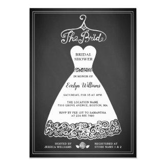 Vestido de boda nupcial rústico de la invitación