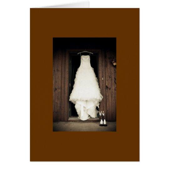 vestido de boda tarjeta de felicitación
