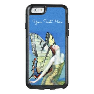 Vestido de hadas hermoso del oro de las alas de la funda otterbox para iPhone 6/6s