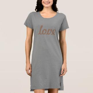 Vestido de la camiseta - amor