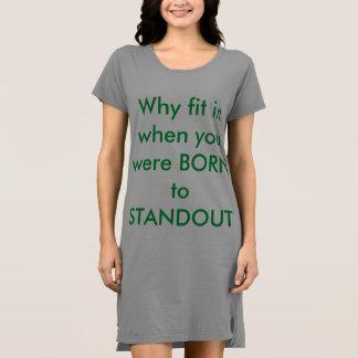 Vestido de la camiseta de American Apparel de las