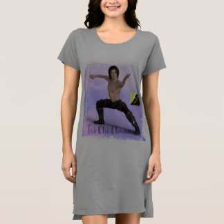 Vestido de la camiseta de Chaun de la ji de