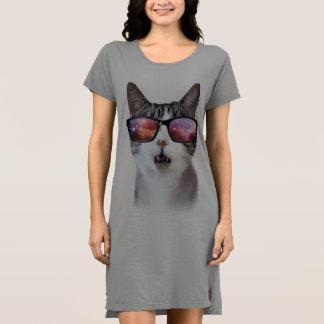 """""""Vestido de la camiseta de las mujeres del gato"""