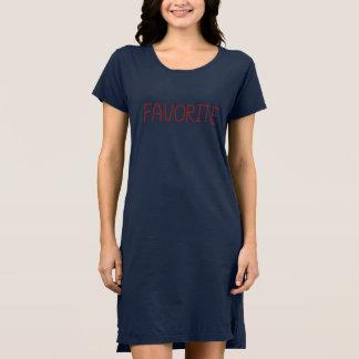 Vestido de la camiseta de las mujeres preferidas