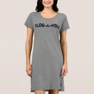 Vestido de la camiseta del Blog-UNo-Holic