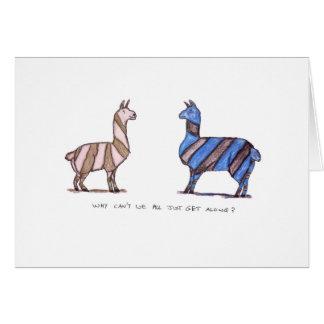 vestido de la llama tarjeta de felicitación
