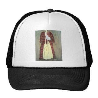 Vestido de la tela escocesa gorros bordados