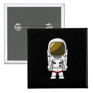 Vestido del astronauta chapa cuadrada 5 cm