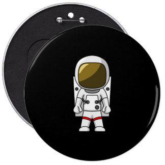 Vestido del astronauta chapa redonda 15 cm