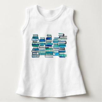 Vestido del bebé de los libros azules