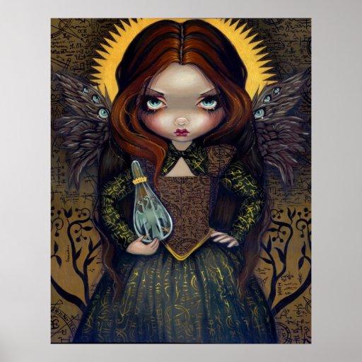 Vestido del icono gótico de la hada del ángel de l posters