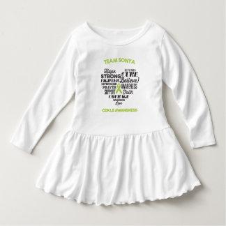 Vestido del niño de la conciencia CDKL5, historia Vestido Con Volantes Para Niñas