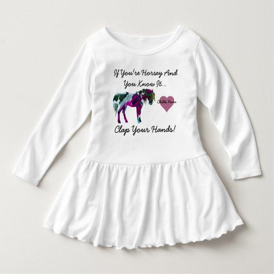 Vestido del niño del caballo - rosa personalizado