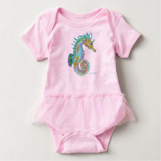 Vestido del tutú del bebé del Seahorse