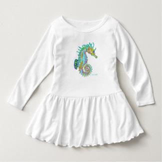 Vestido del volante del niño del Seahorse