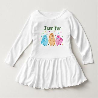 Vestido Dibujo animado lindo de pequeños potros coloridos,