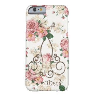 Vestido elegante adorable, floral funda barely there iPhone 6