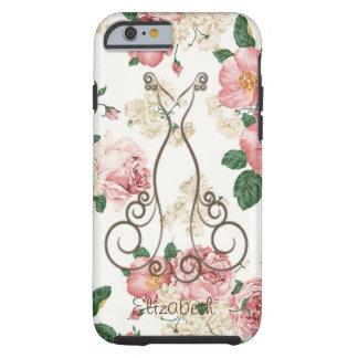 Vestido elegante adorable, floral funda resistente iPhone 6