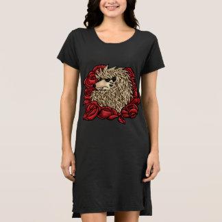 Vestido Vestido gruñón de la camiseta del erizo